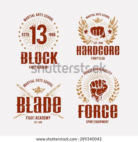 fight club logo templates