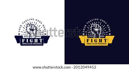 Fight club MMA Mixed martial arts fighting logo, karate,  Stock photo ©