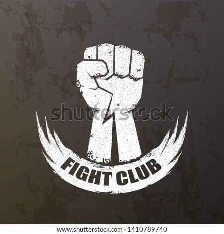 fight club vector logo with