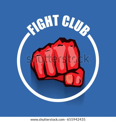 fight club vector logo with red