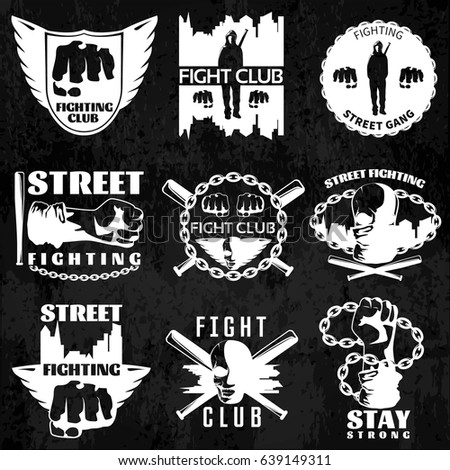 fight clubs emblems with