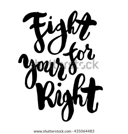 fight for your right hand