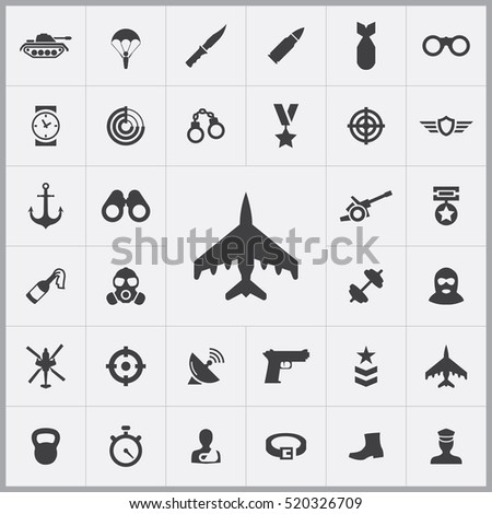 fight jet icon army icons