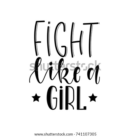 fight like a girl hand