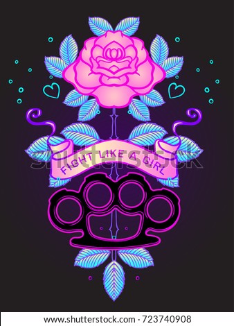 Shutterstock puzzlepix for Fight like a girl tattoos pictures