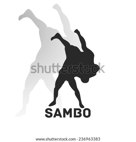 Fight style illustration. Sambo Theme. Vector pic.