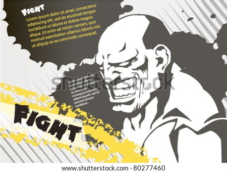 fight. vector layout