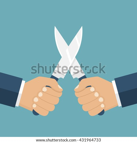 fight with knives  vector