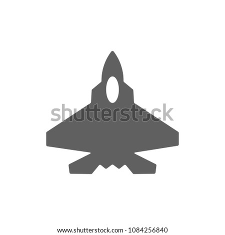 fighter aircraft f 22 icon
