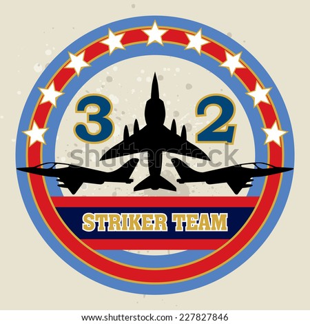 Fighter Badge / Fighter Academy / Fighter elements / vector retro Fighter label / T-shirt Printing / Badge Applique Label