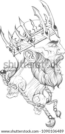 fighter crown vector tattoo