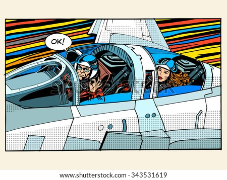 fighter plane pilot man woman