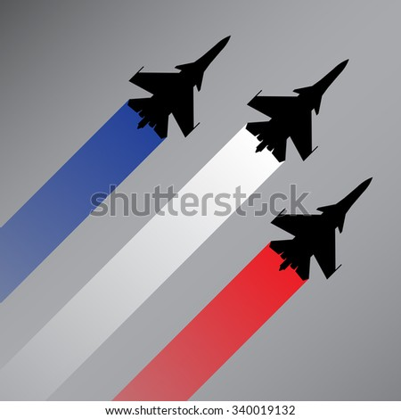 fighter planes with the flag of