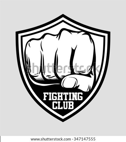 fighting club label  patch or