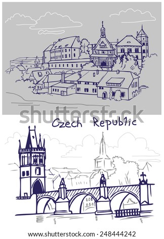 Figure Czech Republic architecture: the city and its attractions