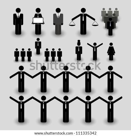 Figure, People Icon - Business and Team Work Concept