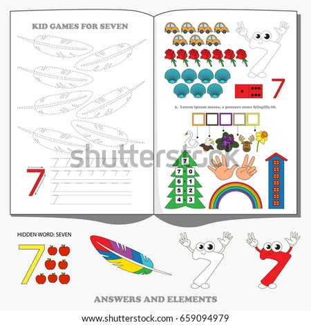 Figure Seven. Dot to dot educational game for kids.