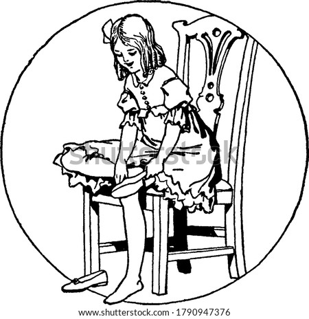 figure showing a girl sitting