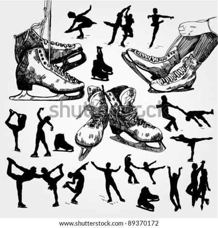 figure skating doodles