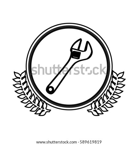 figure symbol onkey wrench icon, vector illustration design image
