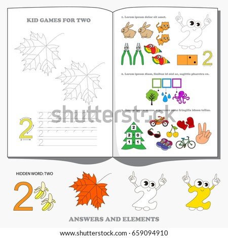 Figure Two. Dot to dot educational game for kids.