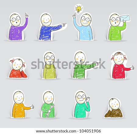 Figures, vector illustration - stock vector