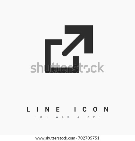 File copy minimal icon. Arrow line vector icon for websites and mobile minimalistic flat design.