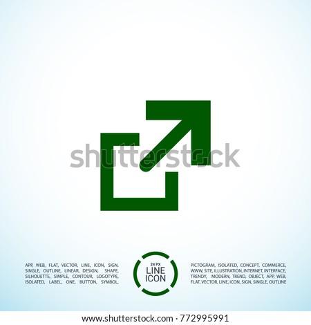 file copy minimal icon arrow
