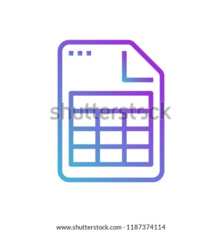 file document table sheet excel icon