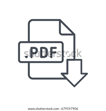 File download format document line icon pdf