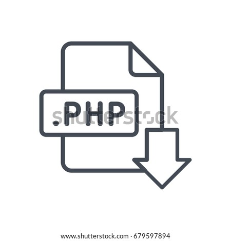 File download format document line icon php