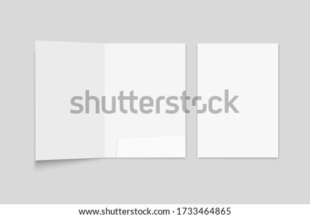 File folder mockup. Folder for paper format A 4 Foto stock ©