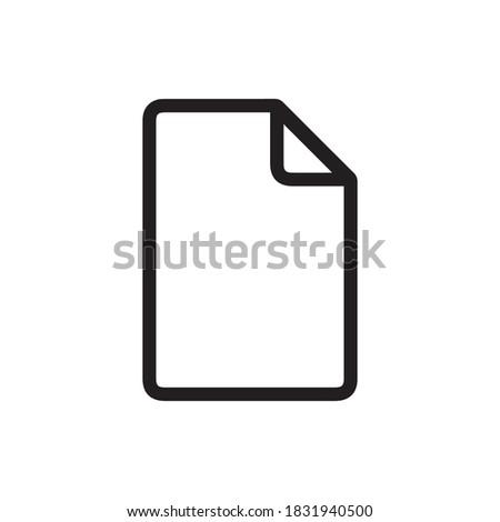 File icon. Outline icon. File symbol. New file icon. Blank symbol. Blank file icon