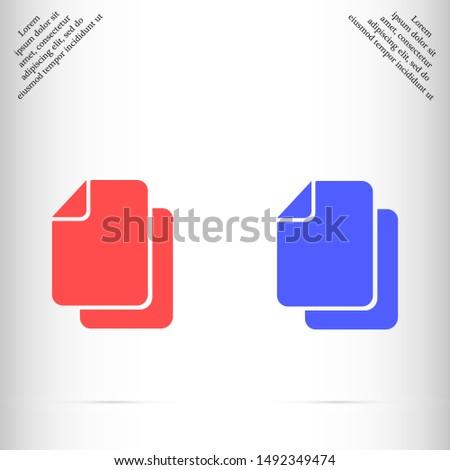 file icon vector eps 10 , Lorem ipsum flat design