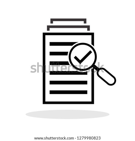 File search icon in trendy flat style. Vector Illustration EPS 10. #1279980823