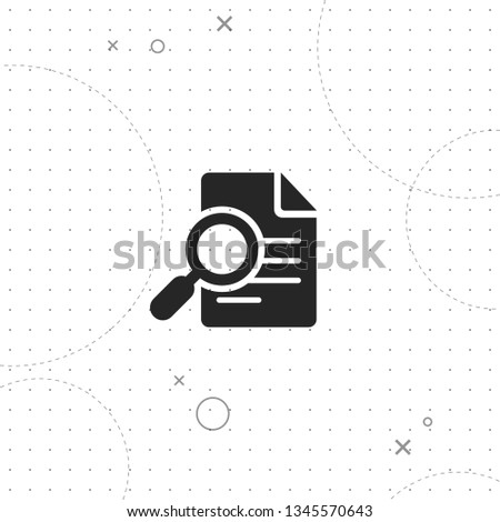 File search, vector best flat icon on texture background , EPS 10