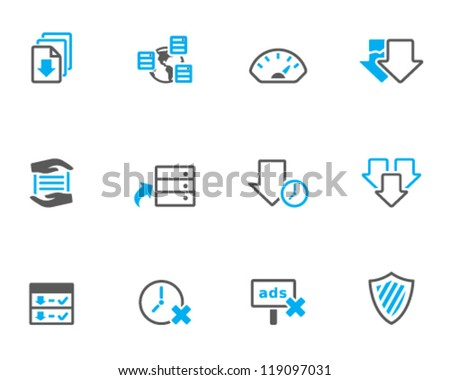 File sharing icon series in duo tone color style