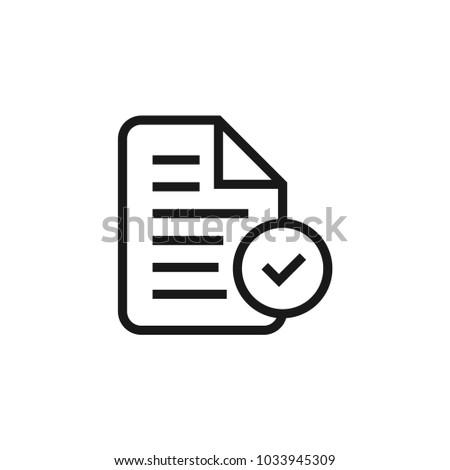File Tick icon #1033945309