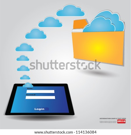 File transfer,cloud connected,Vector