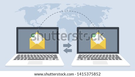 File transfer file recovery, defragmentation, disk recovery is shown. Data transmission, ftp files receiver and laptop computer backup copy. Document pc migration, network laptop file sharing vector