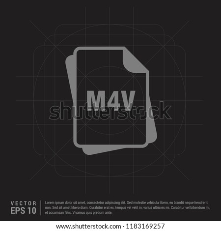 file type icons - Black Creative Background - Free vector icon