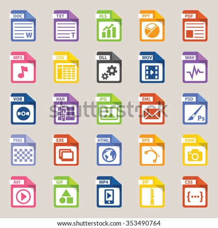 File types icon, vector art and illustration.