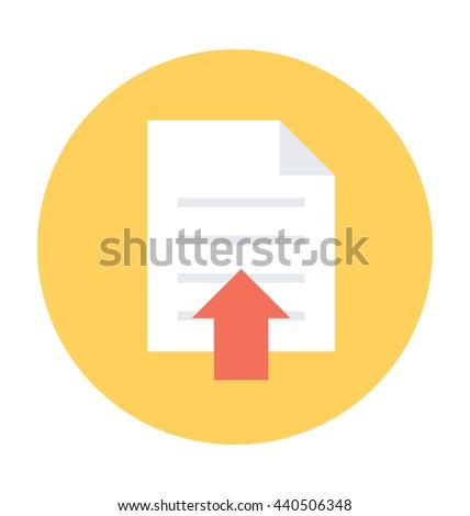 File Upload Vector Icon