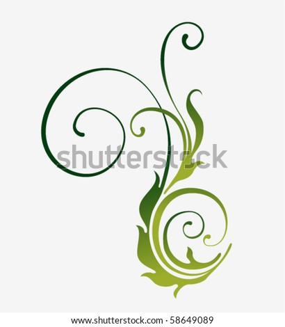 filigree flourishes nature silhouette