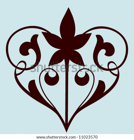 Filigree Heart Stock Vector 11023570 Shutterstock