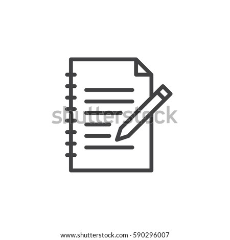 Fill in form line icon, outline vector sign, linear style pictogram isolated on white. Edit symbol, logo illustration. Editable stroke. Pixel perfect
