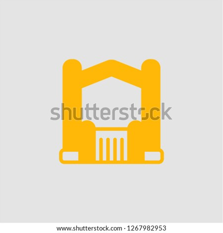 Filled bouncy castle super icon. Bouncy castle vector illustration for graphic design. Bouncy castle symbol.