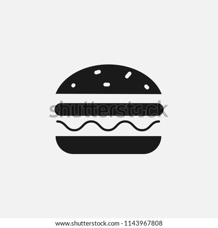filled burger,hamburger,cheeseburger icon.food,fast food,bread,cheese,delicious,dinner,snack,tasty,eat,sandwich,mcdonald's,kfc icon sign symbol for web and mobile app on grey background