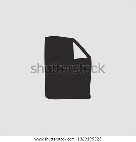 Filled document with folded corner icon. Document with folded corner vector illustration for graphic design. Document with folded corner symbol.