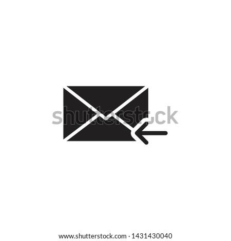Filled mail Envelope icon, Filled mail Envelope vector, Filled mail Envelope illustration, Filled mail Envelope eps10